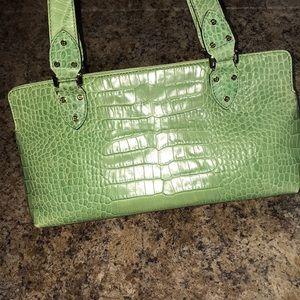 kate spade Bags - Kate Spade lime green embossed Crocodile Bag purse